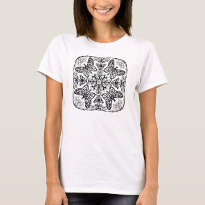 Ready to Color Butterfly Mandala Women's Shirt