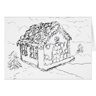 Ready to Color Christmas Gingerbread House Card