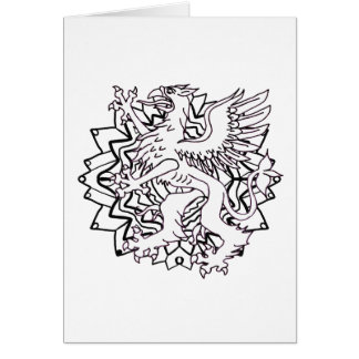 Ready to Color Griffin Greeting Card