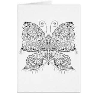 Ready to Color Gypsy Moth Greeting Card