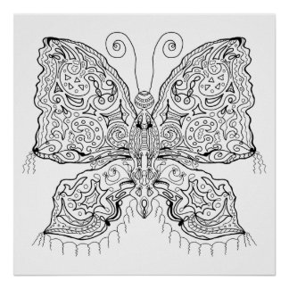 Ready to Color Gypsy Moth Poster