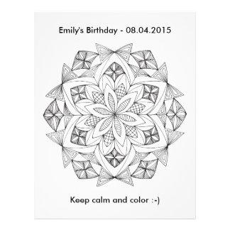 Ready to Color - Mandala Coloring Letterhead