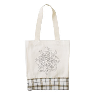 Ready to Color Mandala Zazzle HEART Tote Bag
