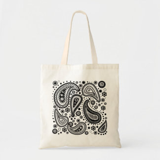 Ready to Color Paisley Coloring Design Tote Bag