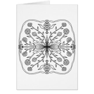 Mandalas To Color Greeting Cards | Zazzle