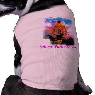 Ready To Dive, Mums Surfin Princess Doggie Tee Shirt
