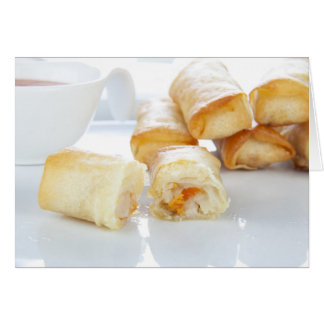 Ready to Eat Spring Rolls Greeting Card