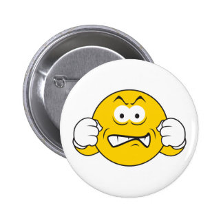 Ready to Fight Smiley Face Pinback Button