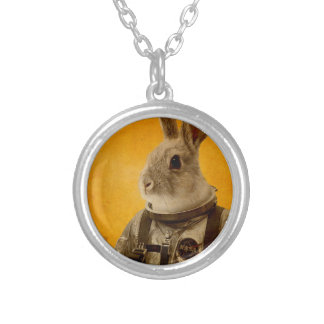 Ready to flight round pendant necklace