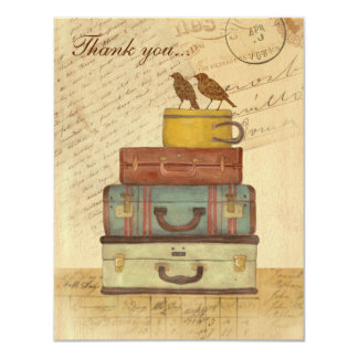 Ready To Fly Flat Thank You Card Personalized Announcement