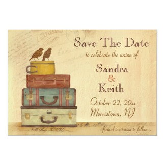 Ready To Fly Love Birds Save The Date Announcement