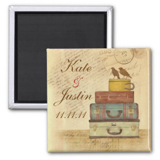 Ready To Fly Love Birds Save The Date Magnet