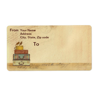 Ready To Fly Love Birds Shipping Label