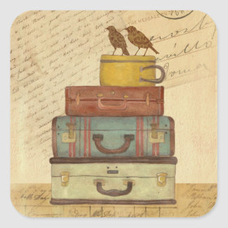 Ready To Fly Love Birds Square Sticker