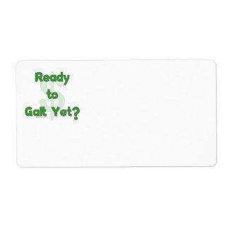 Ready To Galt Yet Custom Shipping Label
