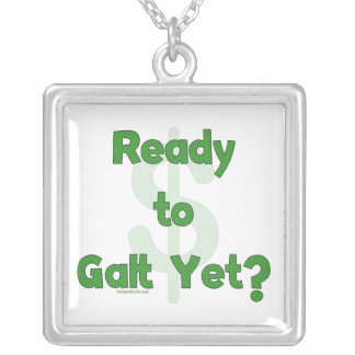 Ready To Galt Yet Silver Plated Necklace
