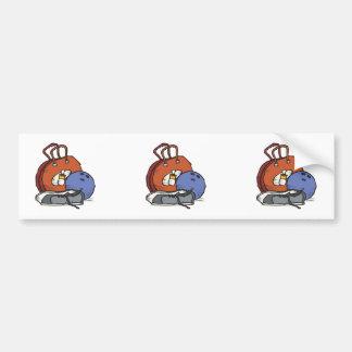 ready to go bowling equipment graphic car bumper sticker