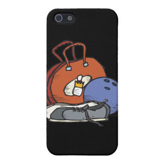 ready to go bowling equipment graphic cover for iPhone SE/5/5s