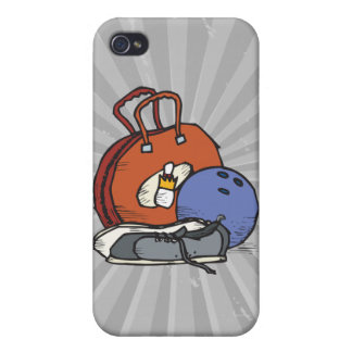 ready to go bowling equipment graphic iPhone 4/4S cases