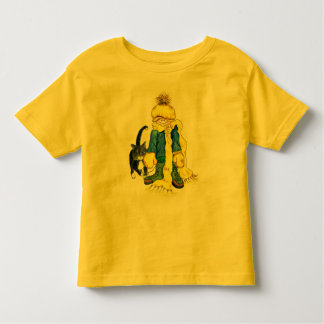 Ready to Go Outside - little girl and her cat Toddler T-shirt