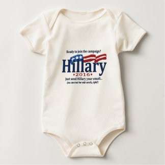 Ready to join Hillary's email campaign? Baby Bodysuit