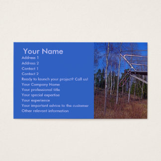 Ready to launch? business card