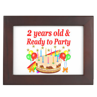 READY TO PARTY 2ND BIRTHDAY CAKE DESIGN MEMORY BOX