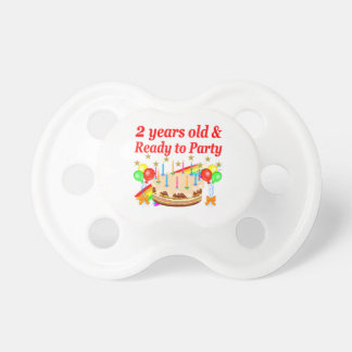 READY TO PARTY 2ND BIRTHDAY CAKE DESIGN PACIFIER