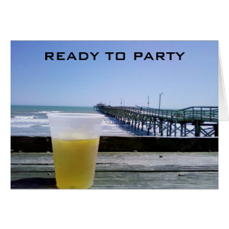 READY TO PARTY - 40th BIRTHDAY! Greeting Card
