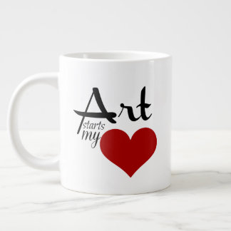 Ready to personalize 20 ounce mug ART STARTS MY ♥