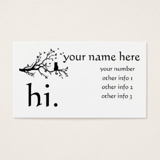 Ready to personalize calling card