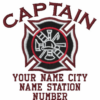Ready to Personalize Captain Firefighter Badge Polos