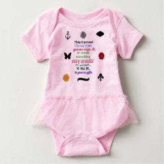 Ready to personalize tutu baby wear baby bodysuit