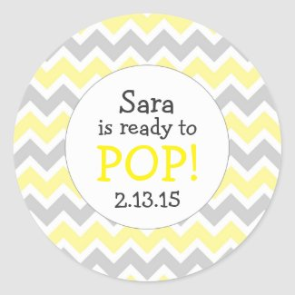Ready to Pop Baby Shower Favor / yellow chevron