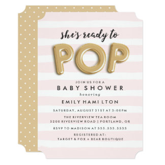 Ready To Pop | Baby Shower Invitation