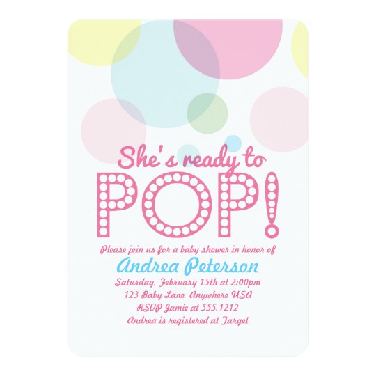 Ready To Pop Baby Shower Invitation Zazzle