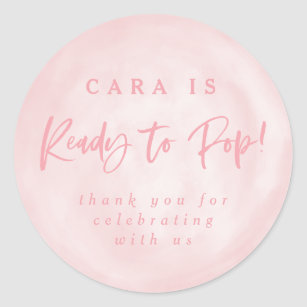 Ready To Pop Baby Shower Invite Thank You Sticker