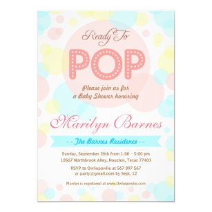 Ready to pop invitations announcements zazzle ready to pop baby shower party invitation filmwisefo
