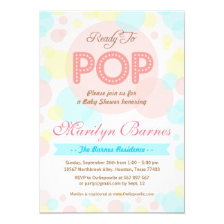 Ready To Pop Baby Shower Party Invitation