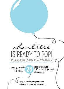 Ready to pop invitations zazzle ready to pop blue balloon boy baby shower invite filmwisefo