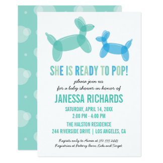 Ready to Pop Stylish Boy Baby Shower Invitations