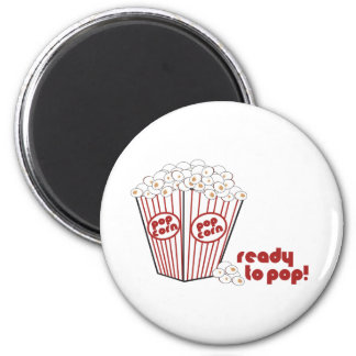 Ready to Popcorn 2 Inch Round Magnet