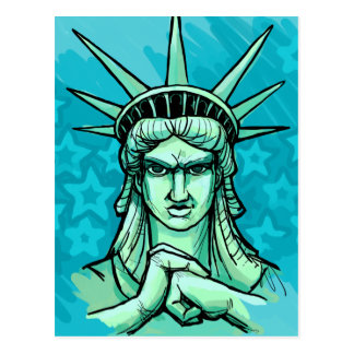"""""""Ready to Punch Something"""" Liberty Postcard"""