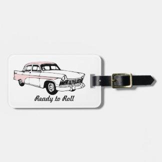 Ready to Roll Vintage Car Luggage Tag