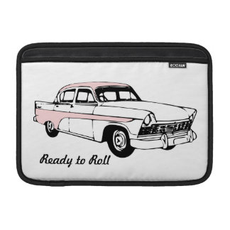 Ready to Roll Vintage Car Sleeve For MacBook Air