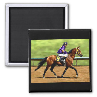 Ready to Run - Horse Painting 2 Inch Square Magnet