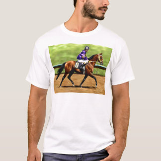 Ready to Run - Race Horse Painting T-Shirt