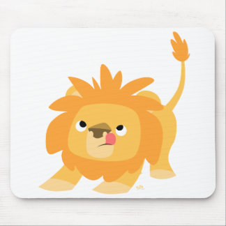 Ready to spring Cartoon Lion mousepad