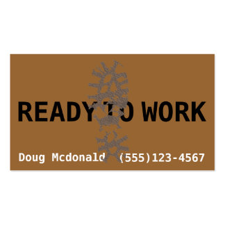 READY TO WORK now.Job Search.Make Money.Labor Business Card