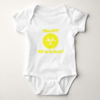 Ready When SHTF Design Prepper Baby Bodysuit